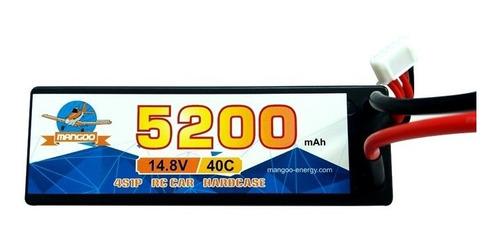 batería de litio polímero lipo 14.8v 5200mah 40c auto rc 1/8