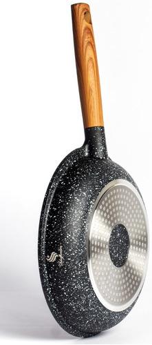batería de ollas en marmol 7 piezas schaffhausen negro