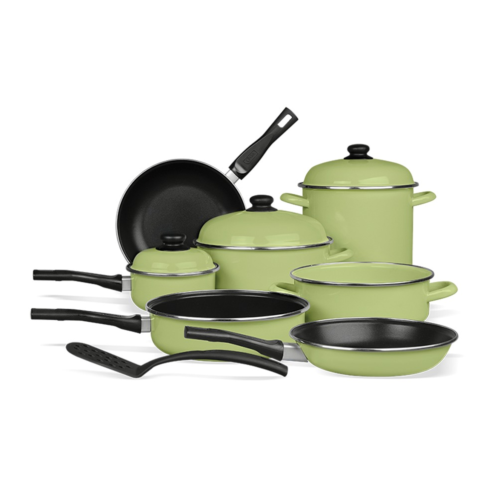 Bater a de peltre novacero pontevedra verde cocina 8 pzs - Muebles de cocina en pontevedra ...