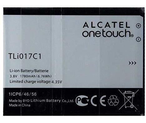 batería de repuesto alcatel onetouch mah  tlic embalaj...