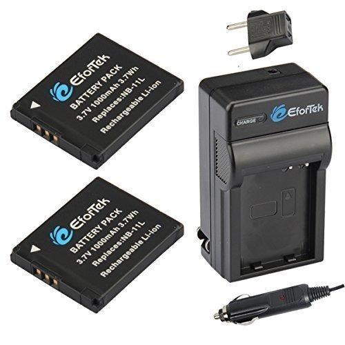 batería de repuesto efortek nb-11l (paquete de 2) y kit de c