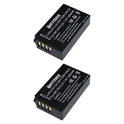 batería de repuesto en-el20 de 2 paquetes batmax para nikon