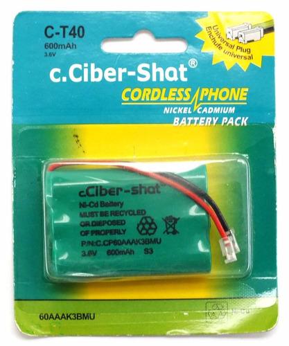 bateria de telefone c.ciber-shat c-t40 3,6v 600mah a6996
