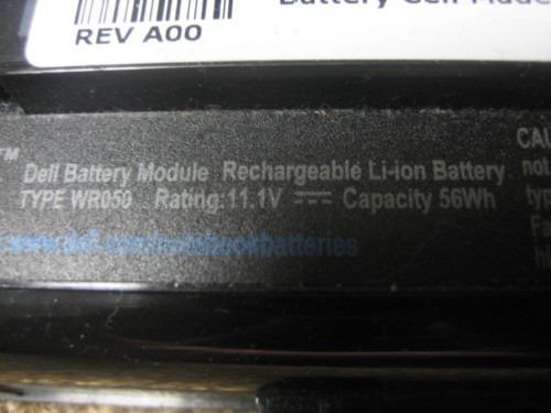 bateria dell xps m1330 de 6 celdas nueva 5200mah nuevas