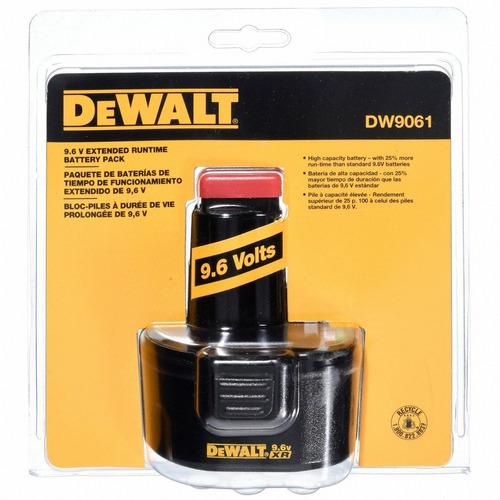 bateria dewalt dw 9061 9,6v xrp de alta capacidad