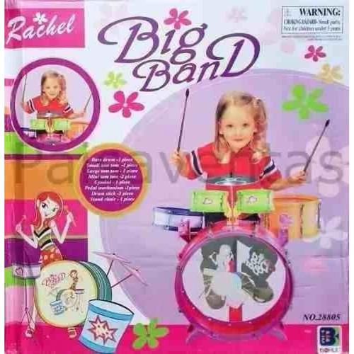 bateria didáctica musical para niñas 5 tambores + regalo!