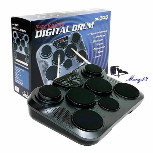 batería digital medeli dd305/7pads/2pedales/sensible altacto