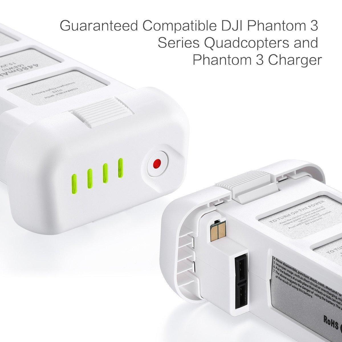 4480mAh 15.2V Battery For DJI Phantom 3 4K Professional Advanced LiPo TO