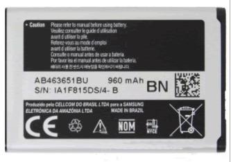 bateria do celular samsung sgh-j160l (ab463651bu)
