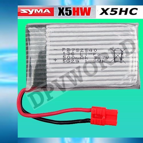 bateria drone syma x5hw litio 3.7v 500mah repuesto dron x5hw