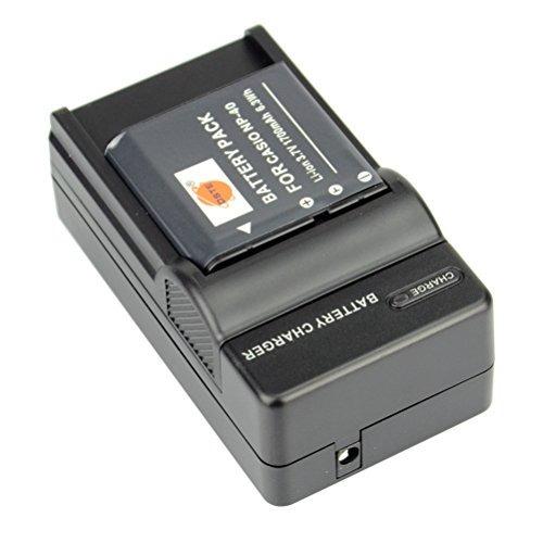1 año de garantía Cargador USB para Casio Exilim zoom ex-z1080be ex-z1200 ex-z200