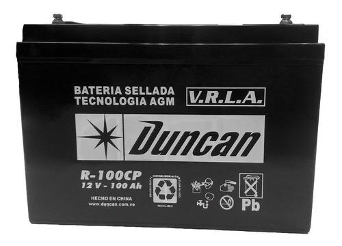 batería duncan r-100 12v 100ah, ciclo profundo.