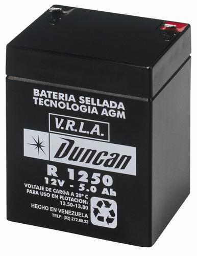 batería duncan r-1250 12v 5ah , para ups cerco eléctrico