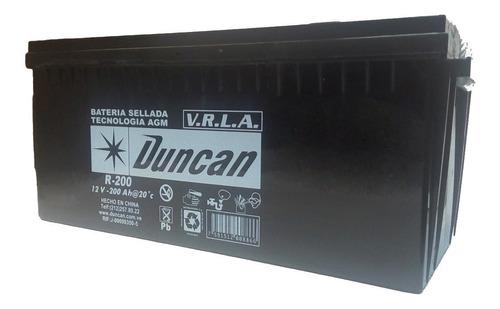 batería duncan r-200 12v 200ah.