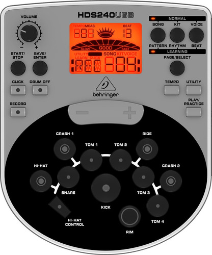 bateria electronica behringer xd80usb completa homemusic.pe