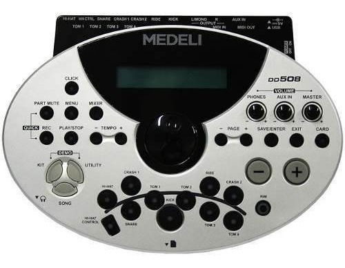 bateria electronica medeli dd 508 6 pads 4 plat. envio free