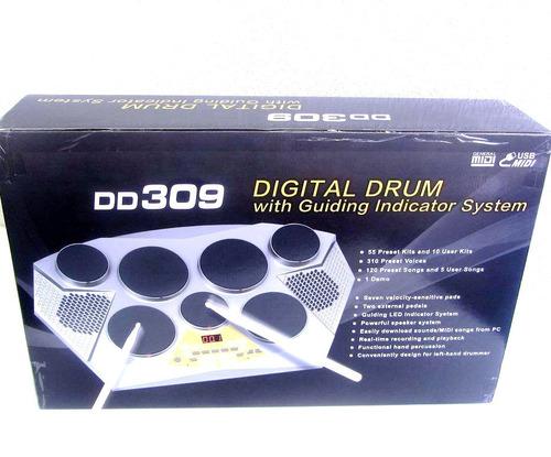 bateria electrónica medeli dd309 con pedales y baquetas