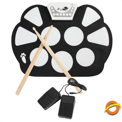 bateria electronica pads flexible redoblante percusion