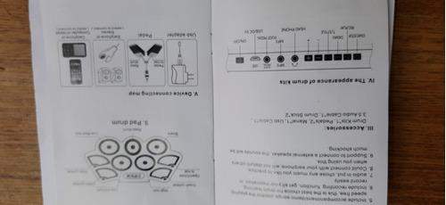 bateria electronica plana  pedales palillos oferta imperio