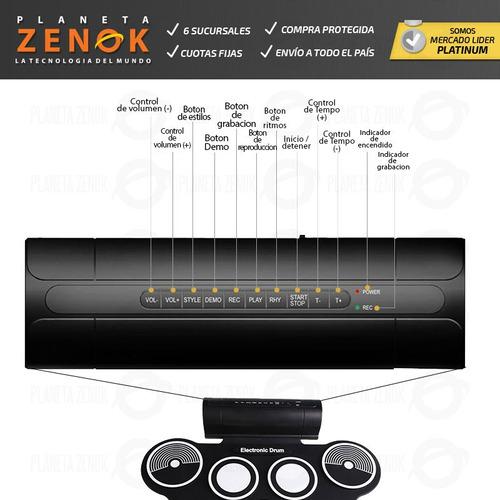 bateria electronica redoblante flexible pedal pads percusion