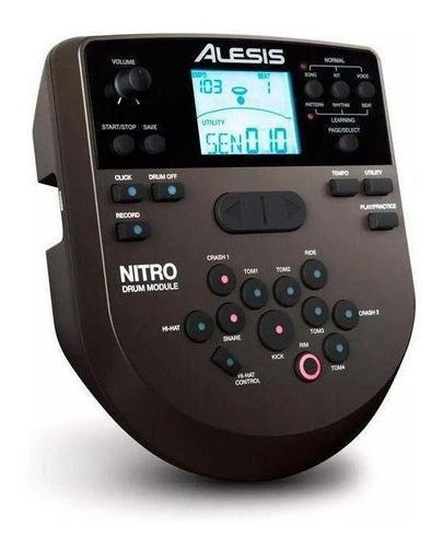 bateria eletrônica alesis nitro mesh kit de 8 pç pedal bumbo