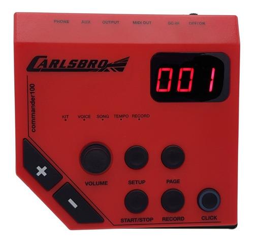 bateria eletrônica carlsbro csd-100 lançamento odery csd100