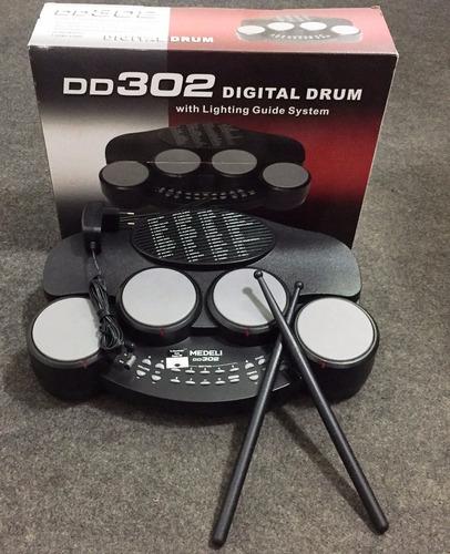 bateria eletrônica medeli dd-302 completa  - planeta music