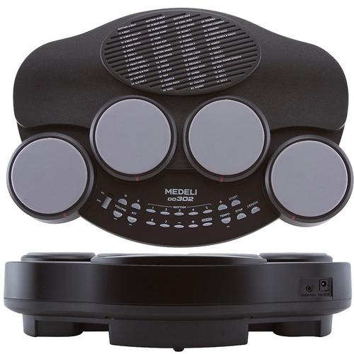 bateria eletrônica medeli dd302 4 pads 26 vozes par baquetas