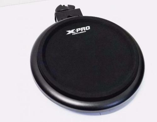 bateria eletrônica xpro ed100 portatil digital completa