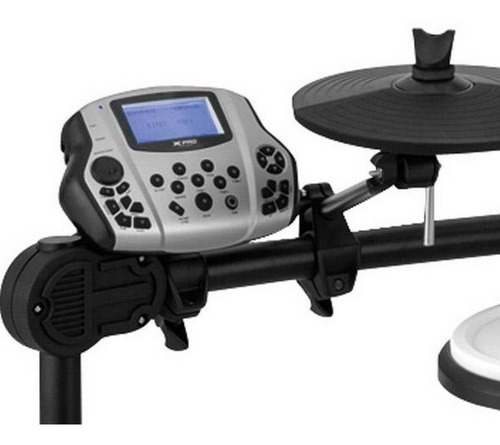 bateria eletronica x-pro ed-100 kit completo leia descrição