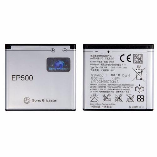 bateria ep500 nova 100% original sony xperia mini pro
