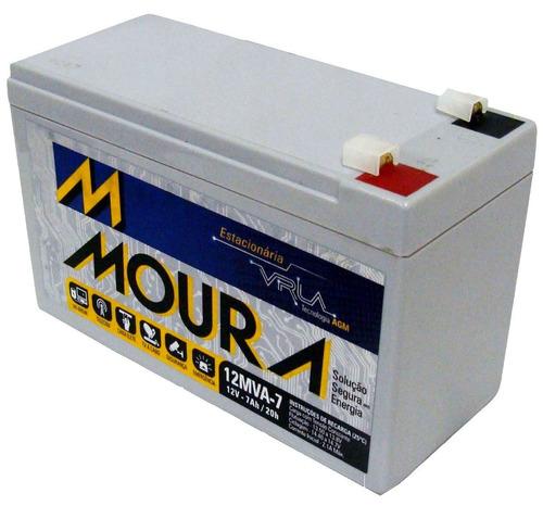 bateria estacionária moura 12v 7ah para nobreak alarme cerca