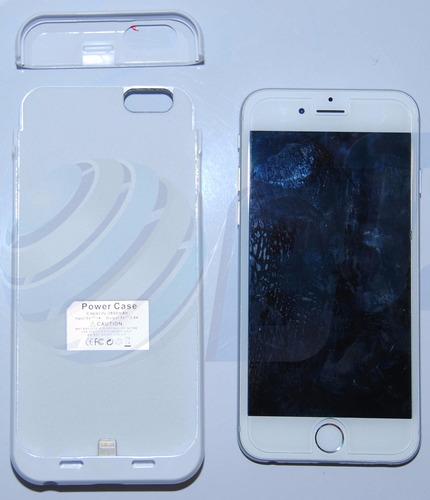 bateria estuche cargador color blanco iphone 6