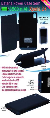 bateria estuche cargador power case sony xperia z4 z3 plus