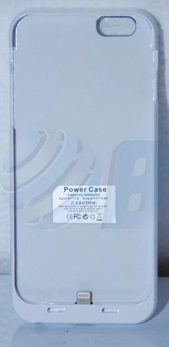 bateria estuche cargador recargable color blanco iphone 6