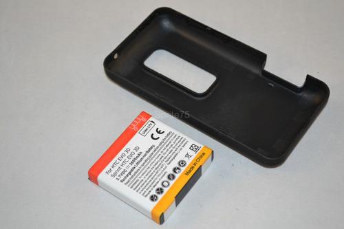 bateria extendida 3600mah+tapa para htc evo 3d bg86100/35h00