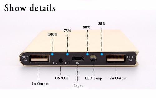 bateria externa 12000 mah