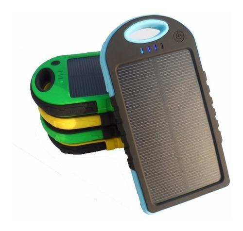 bateria externa auxiliar power bank con panel solar linterna