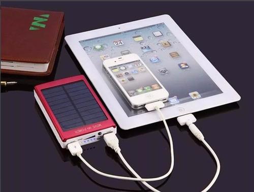 bateria externa cargador solar power bank 50000mah + led