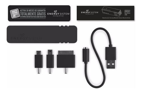 batería externa energy portable 2200 mah black