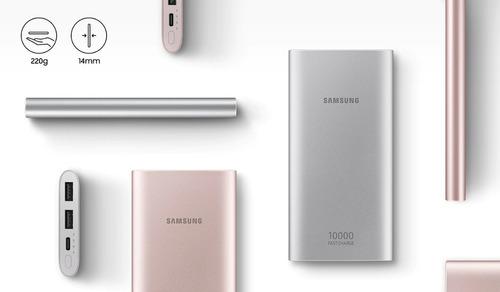 bateria externa fast charge original samsung 10.000mah usb-c