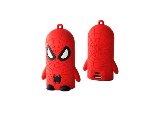 batería externa portátil power bank super heroes + regalo