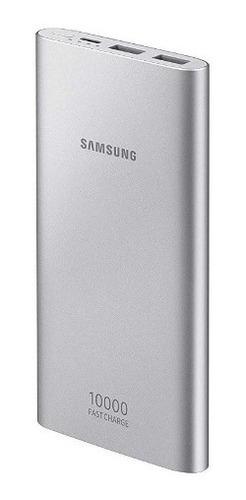 bateria externa samsung carga rápida - usb tipo c prata
