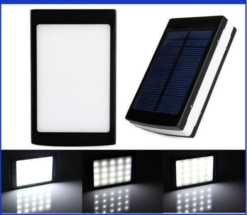 Bateria Externa Solar Power Bank 12000 Mah Luz Emergencia
