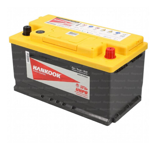 batería ford ranger 3200cc 2013 diesel, hankook 80ah 800cca