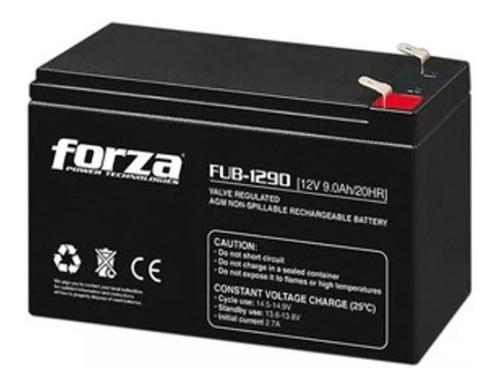 bateria forza fub-1290 12v 9a alarmas luces cerca electrica