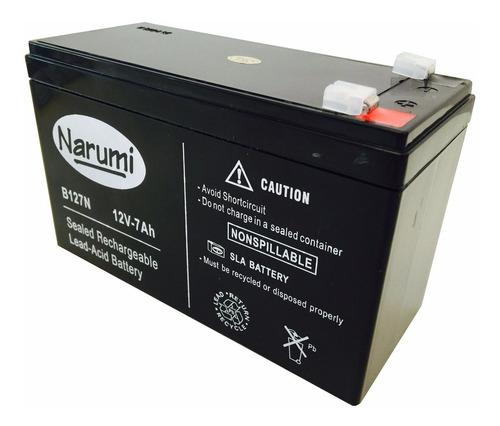 bateria gel 12v 7ah 7a narumi b127n x28 alarma domiciliaria ups leds garantia 5 años