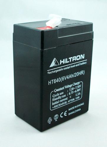 batería gel 6v 4ah recargable hiltron ht64 alto rendimiento