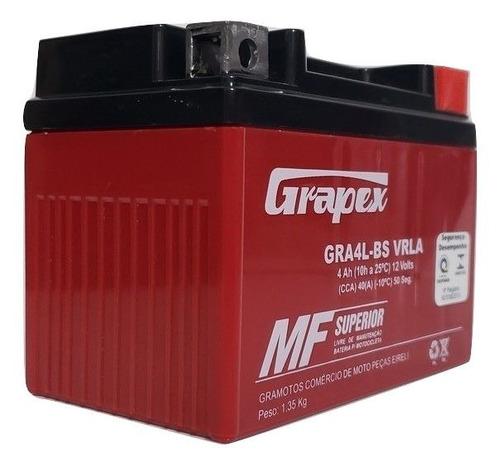 bateria gel honda cg titan fan 150 ano 2009 ks pedal 4ah