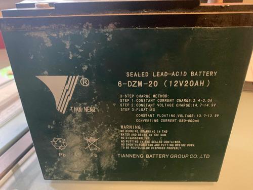 bateria gel recargable 12v 20ah lucky lion ciclo profundo